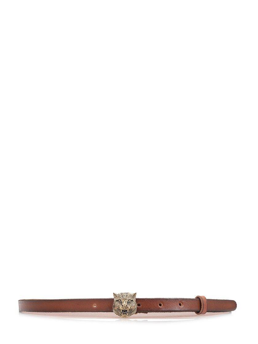 1ff15516301 GUCCI Tiger buckle skinny belt.  gucci  belts