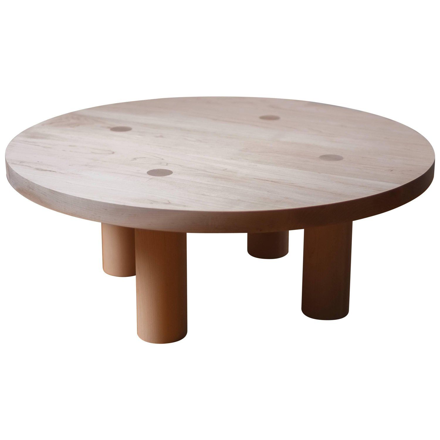 Contemporary Wood Column Coffee Table In White Oak By Fort Standard Wood Cocktail Table Coffee Table White Oak Coffee Table [ 1500 x 1500 Pixel ]