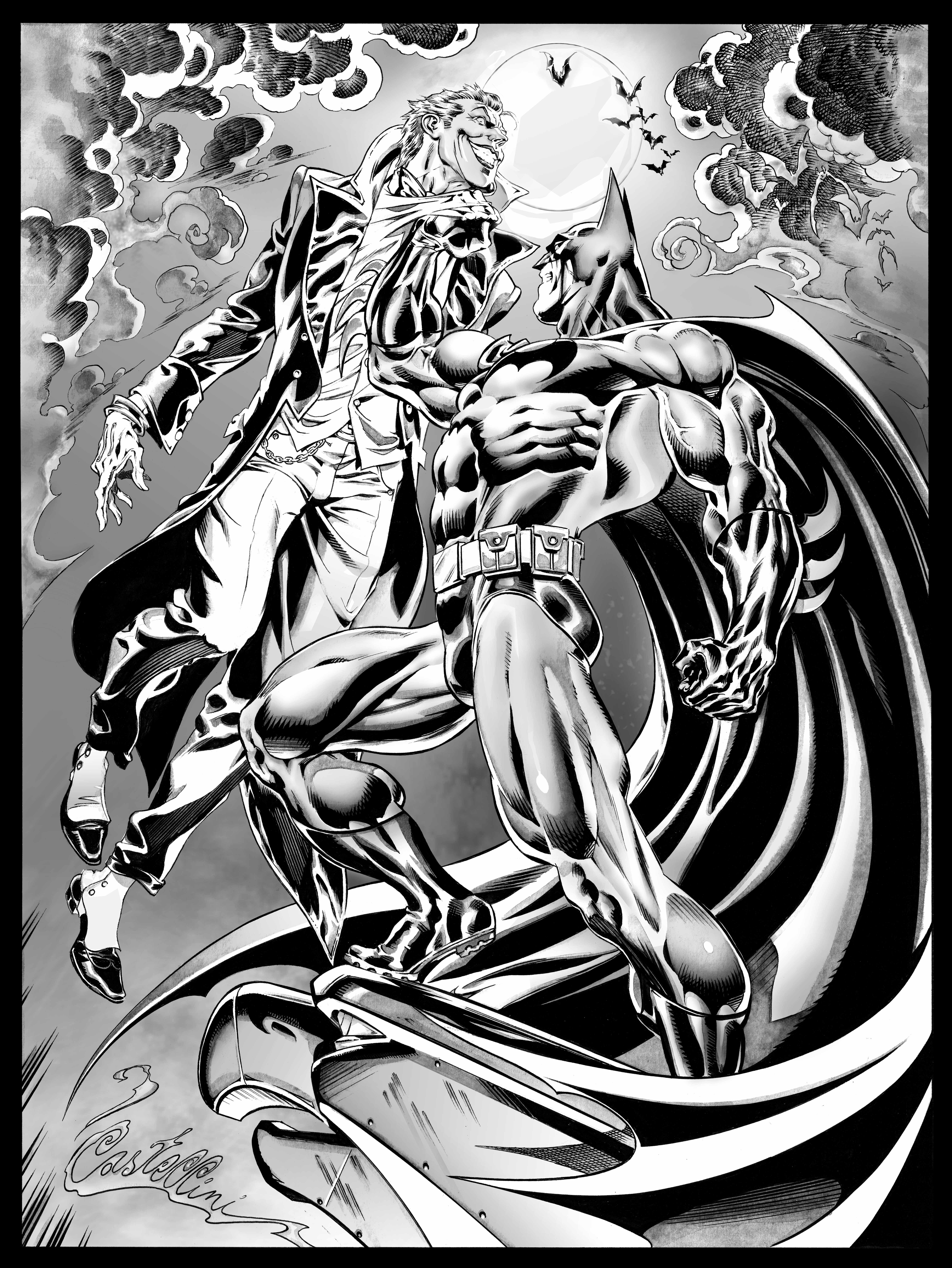 Batman Vs Joker By Claudio Castellini Comic Book Legends