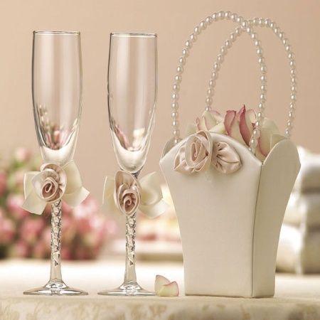 Ideas para decorar las copas de boda