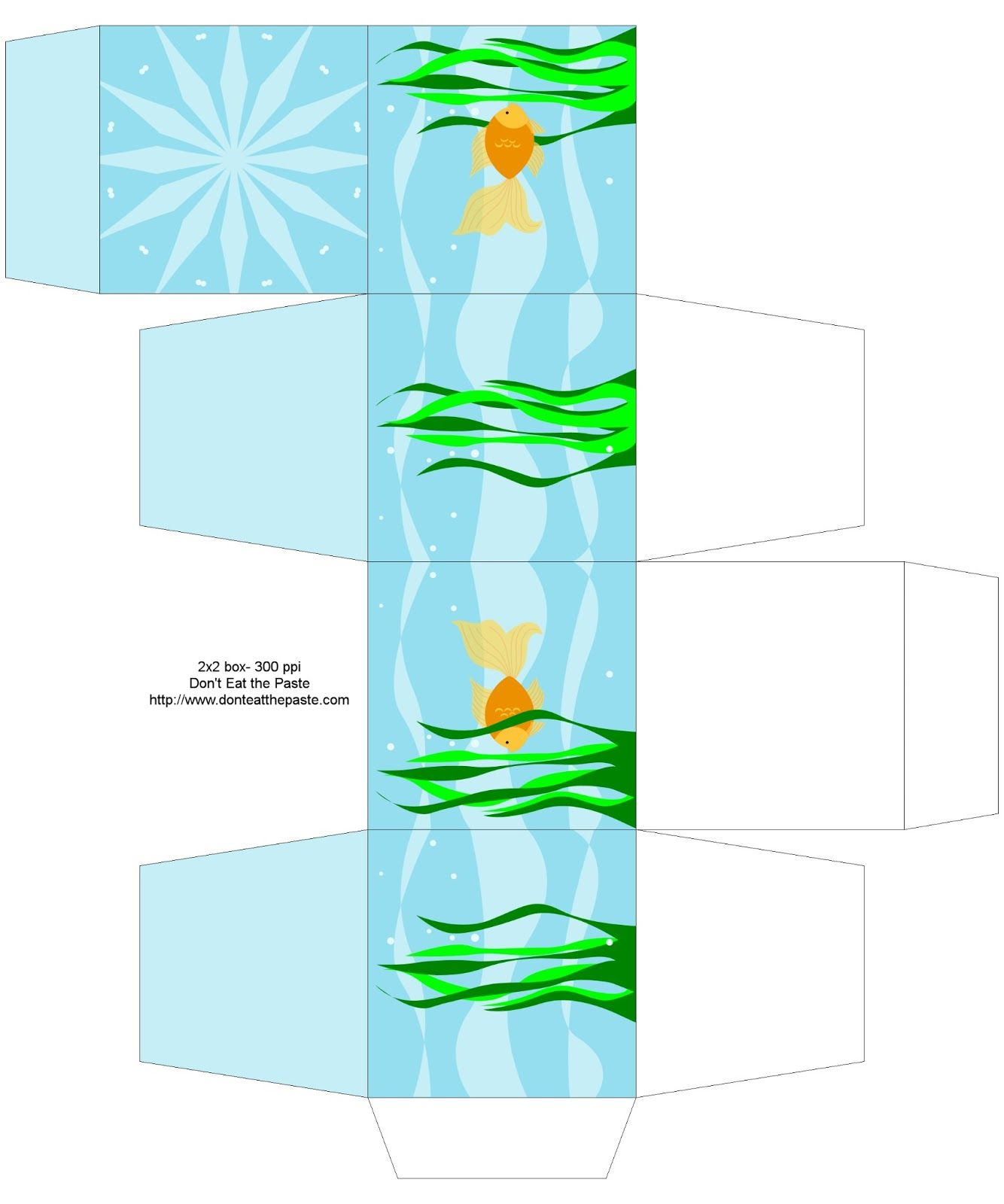 goldfish printable box printable box box templates and ocean themes