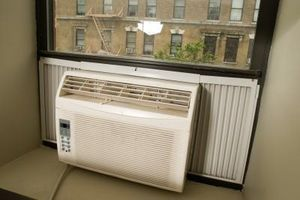 How To Make An Indoor Window Air Conditioner Cover Hunker Window Air Conditioner Window Unit Air Conditioners Window Air Conditioner Cover