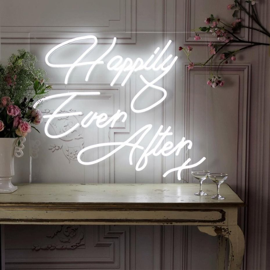 15 Neon Wedding Signs We're All About RN Neon signs