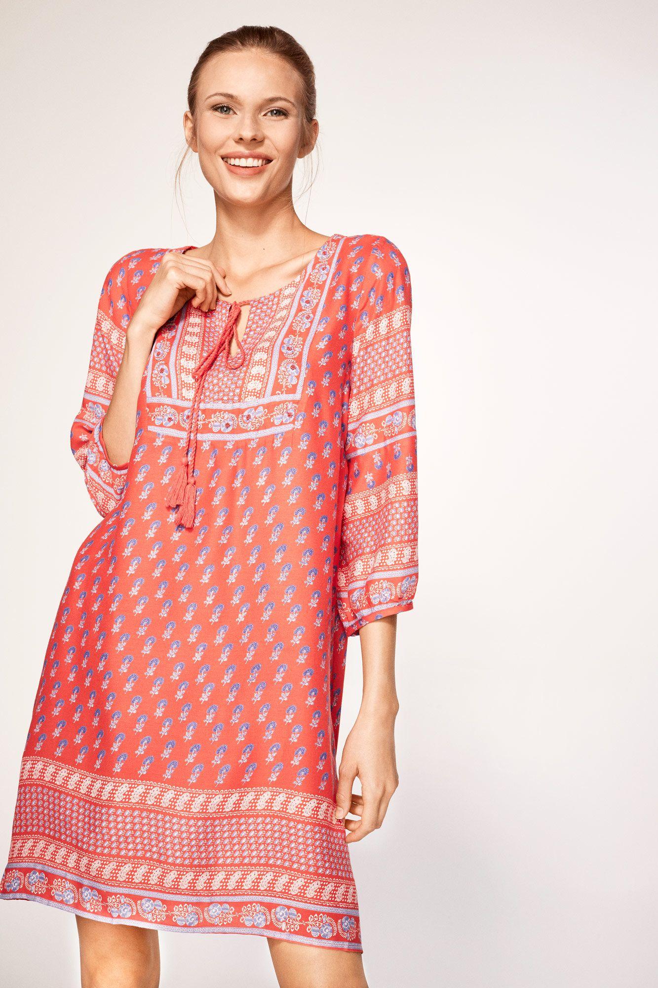 Cortefiel - Vestido manga abullonada | Casual dresses | Pinterest ...