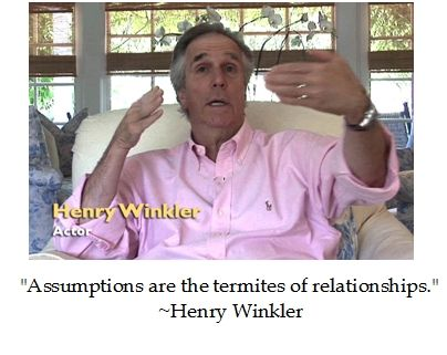@hwinkler4real-- Ayyy, it's best not to have assumptions so say the Fonz