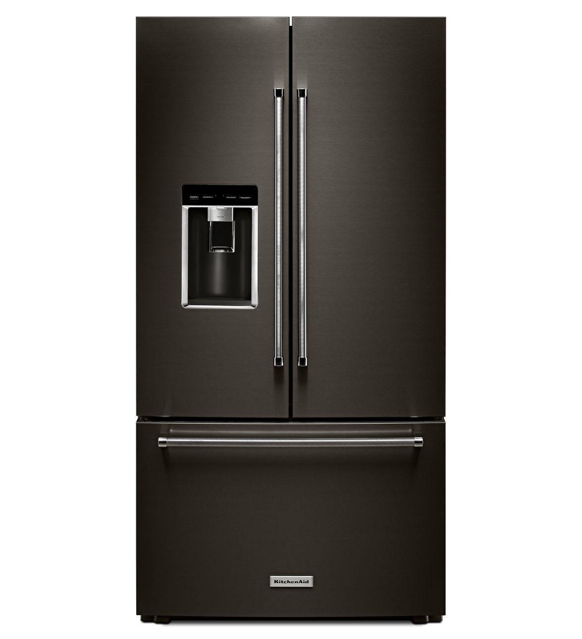 kitchenaid refrigerator black handles
