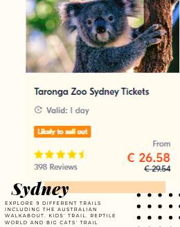 Taronga Zoo Sydney Tickets Australian Animals Kids Trail Zoo