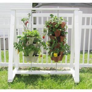 Vertical Gardening Self Watering 12 In Stacking Planters