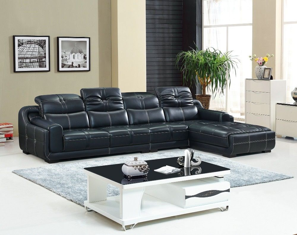 2018 Leather Reclining Sofas Mean The Maximum Elegance And Comfort Black Leather Sofa Living Room Living Room Sofa Living Room Leather