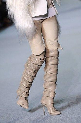 3b773e45f Giuseppe Zanotti for Kanye West nude knee high boots