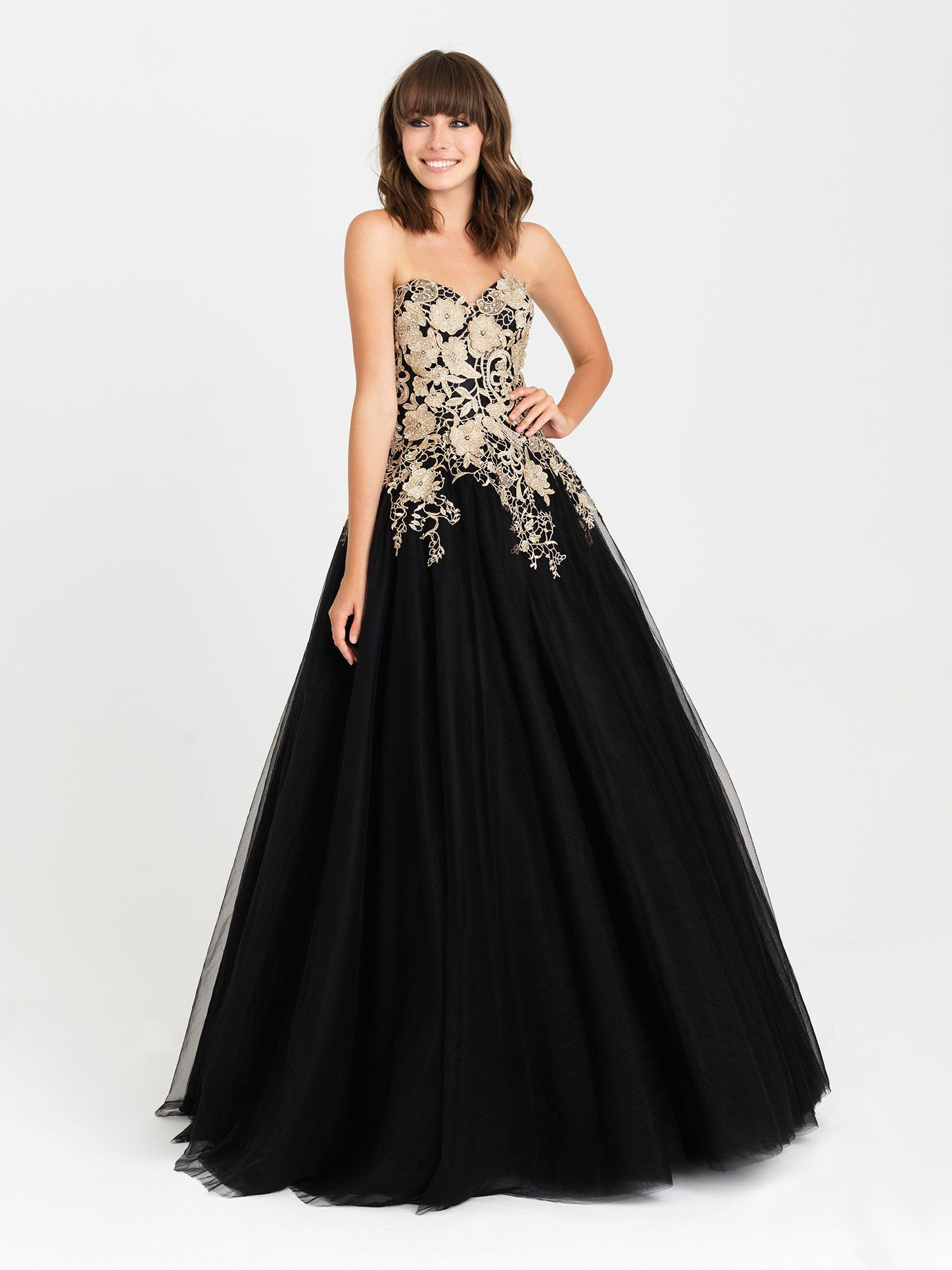Madison James 16-434 In Stock Emerald Size 10 Lace Applique Tulle ...