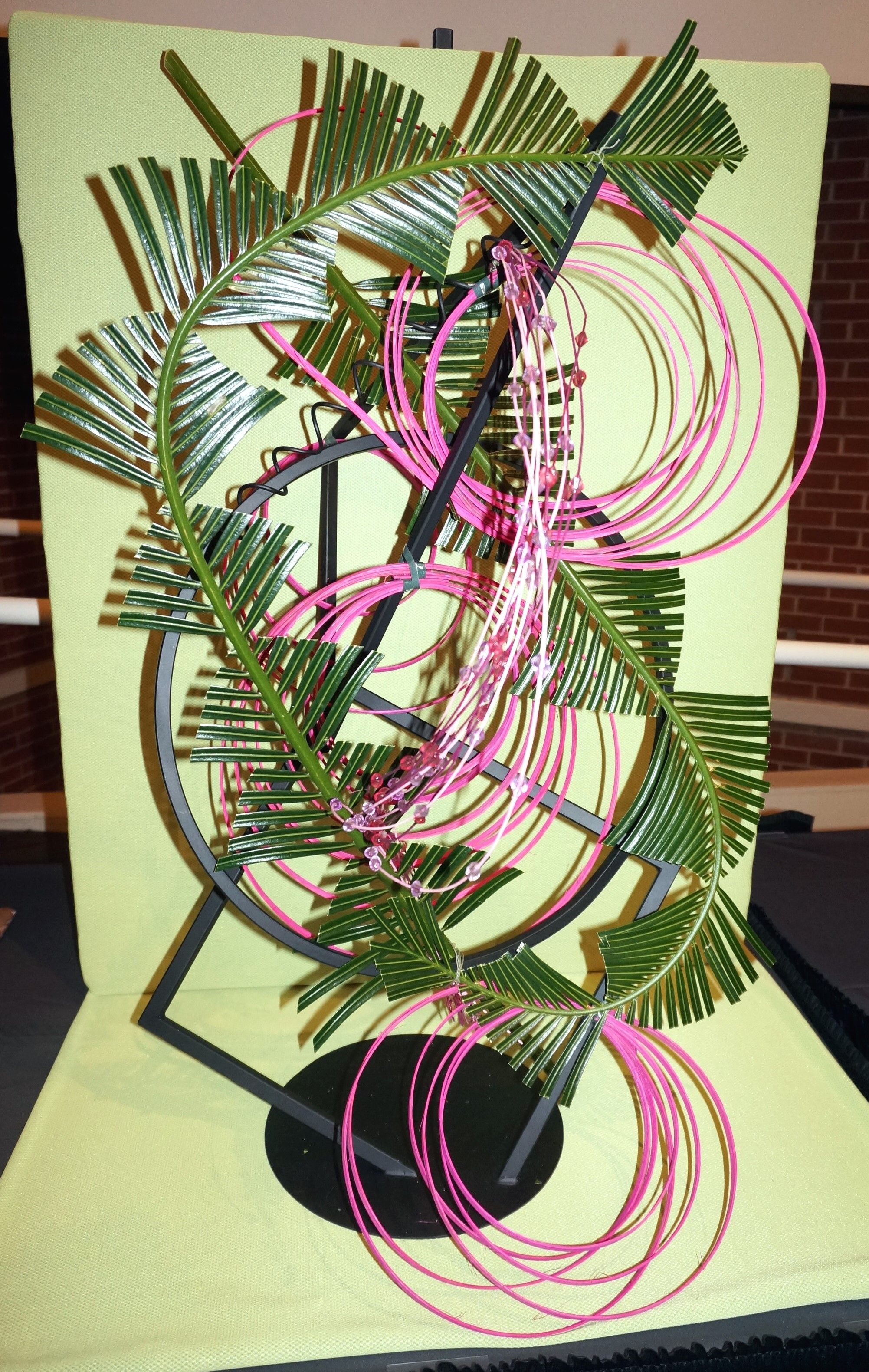 A design by Julia A. Clevett at the 2015 Flower Show Judges' Symposium in Athens, Georgia