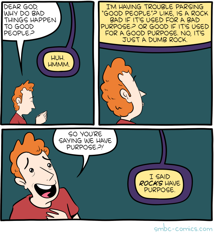 This Will Featured In 2025 S All Theodicy Smbc Collection Saturday Morning Breakfast Cereal Morning Breakfast Saturday Morning
