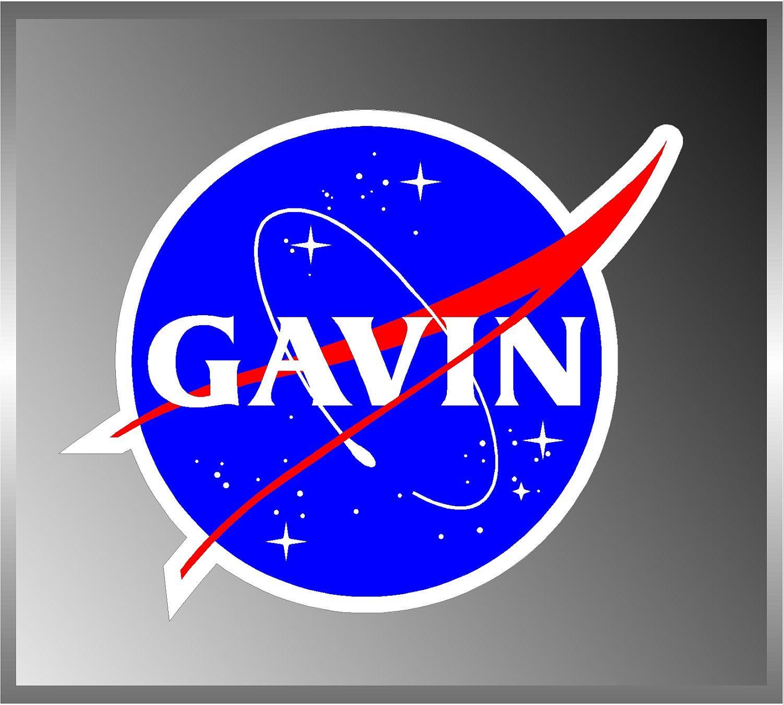 NASA Seal Logo Custom Name USA Space Cosmos Bumper Sticker ...
