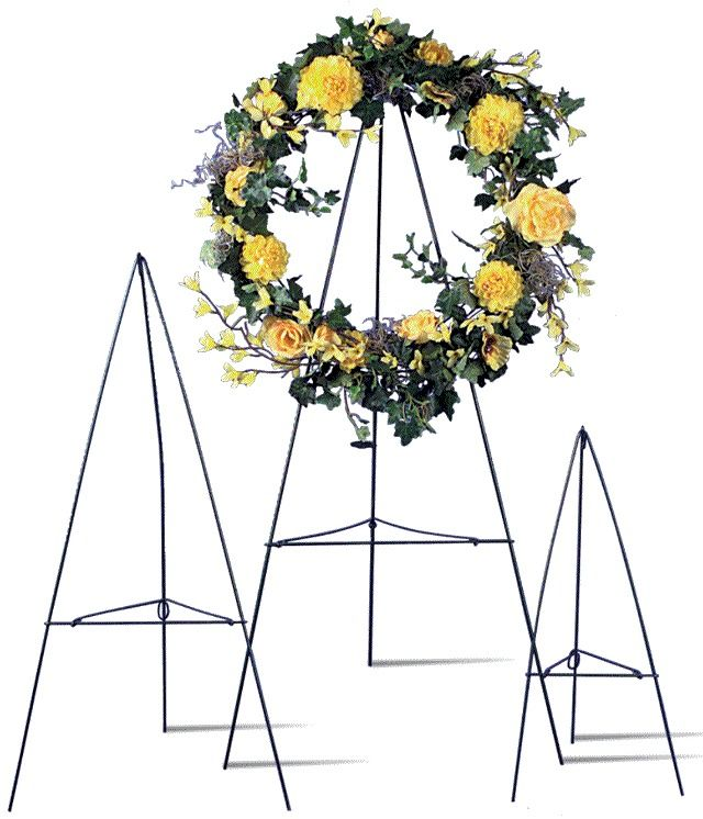Green Wire Easel Stand Cemetary Wreath Funeral Multiple Sizes Wreath Stand Funeral Flowers Funeral Floral Arrangements