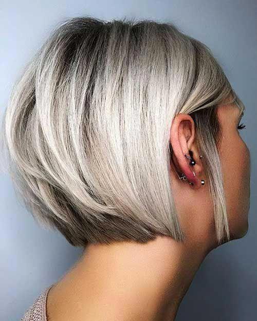 15 Short Fine Straight Hair Bobhairstylesforfinehair In 2020 Fine Straight Hair Haircuts For Straight Fine Hair Thick Hair Styles