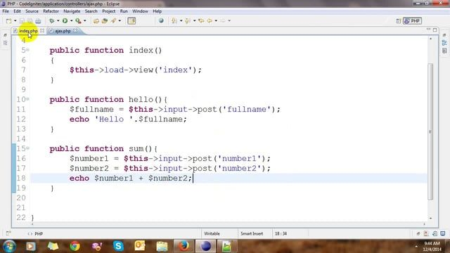 Ajax with jQuery CodeIgniter | Midaster education online