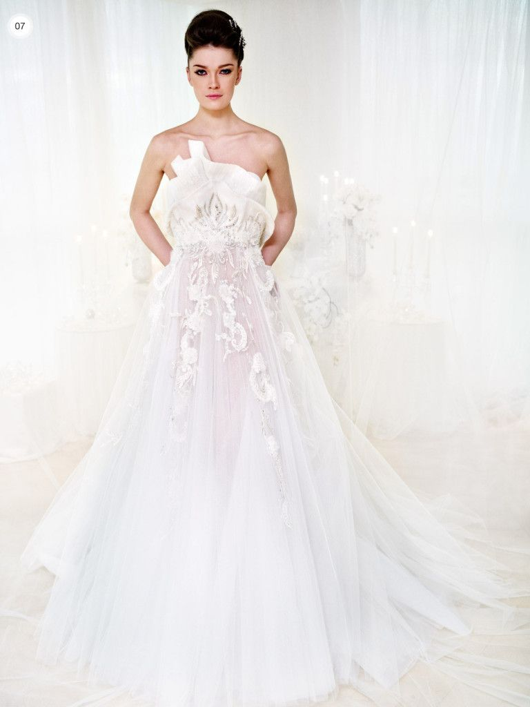 Ivory wedding dresses with sleeves  Ziad Nakad u Tulle Tales  Aisle Style  Pinterest  Aisle style