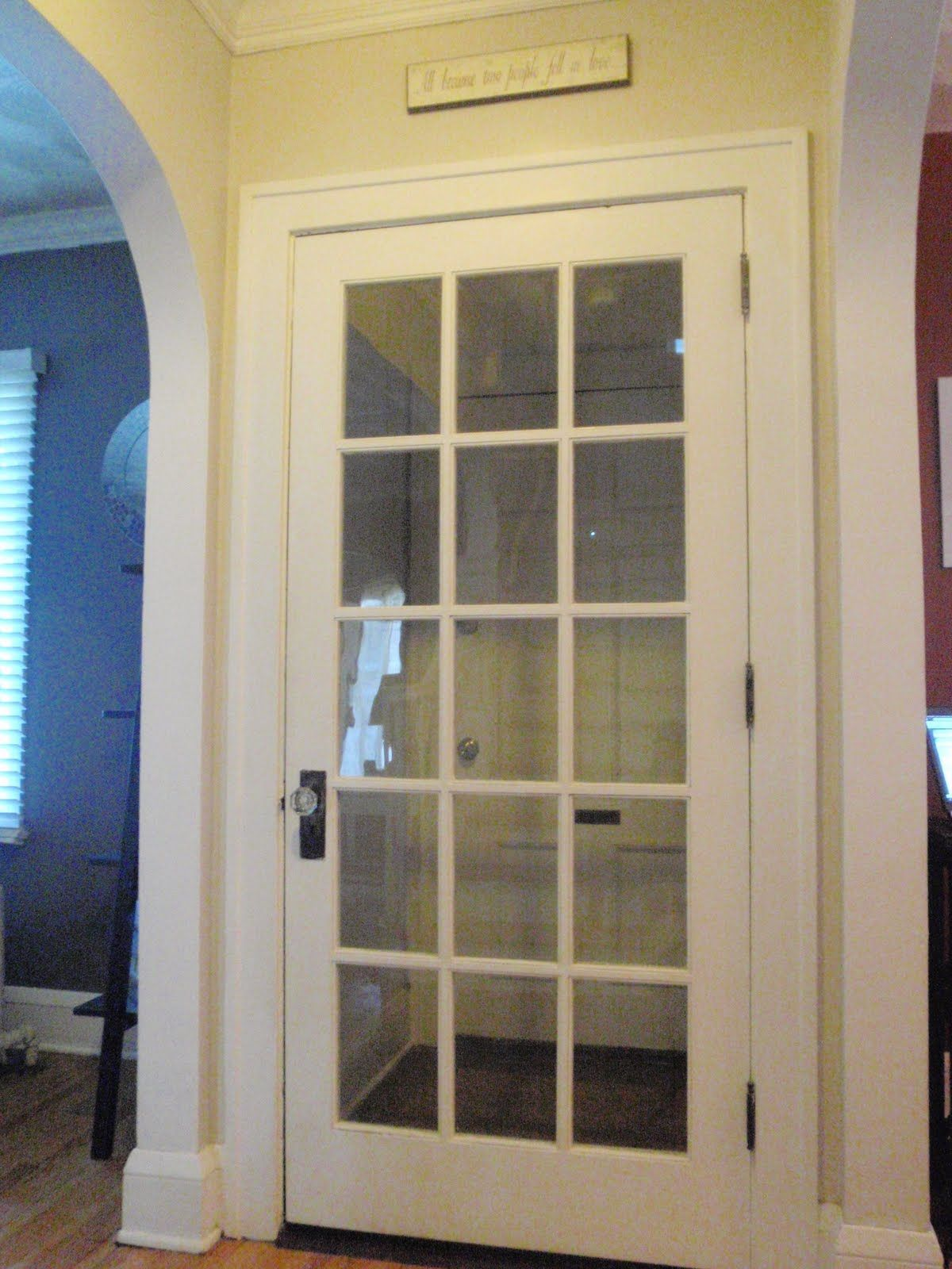 Old Glass Pane Doors | with the antique glass knob you don ...