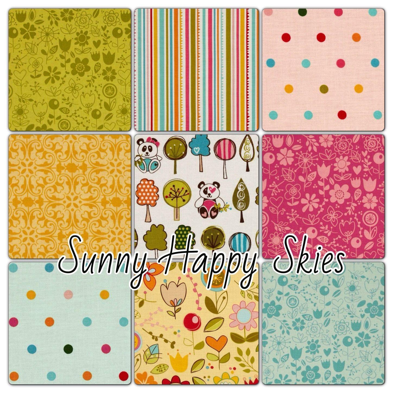 Sunny Happy Skies Crib Bedding by ellenadedesign on Etsy