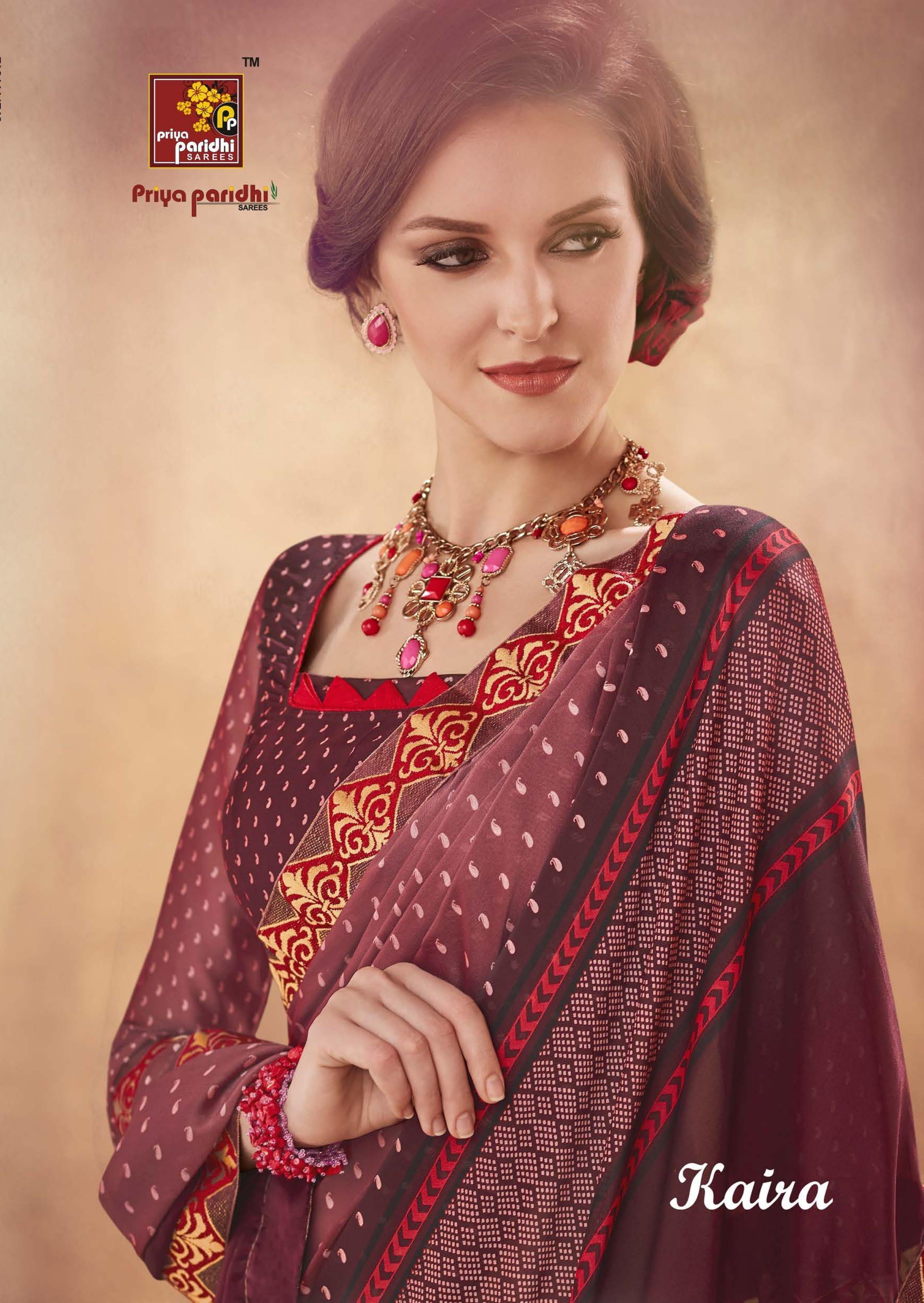 9b20adcabc Priya Paridhi Kaira Regular Wear Rangoli Printed Sarees Collection at  Wholesale Rate