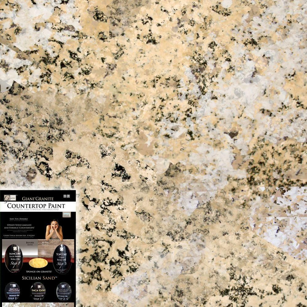 Giani Granite Sicilian Sand Countertop Paint Kit For The Home - Kitchen countertop paint kits
