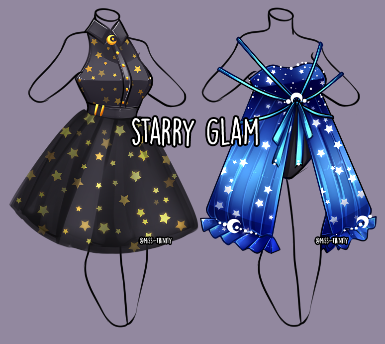 Starry Glam outfit Adopt [OPEN] by MissTrinity on