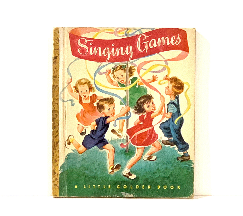 Vintage Singing Games Little Golden Book S Mid