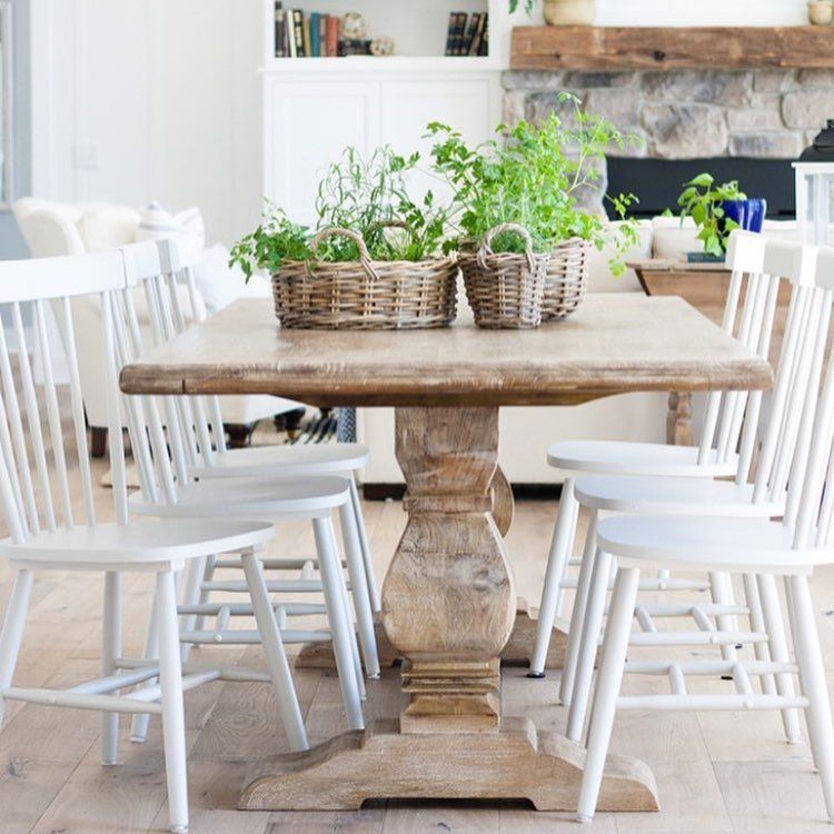 18 Likes 6 Comments  Deanna Reddy Stylebydeanna On Endearing Plank Dining Room Table Design Decoration
