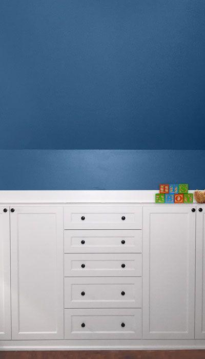 Custom Nursery Wardrobe Closet Built In A Sloped Ceiling Room