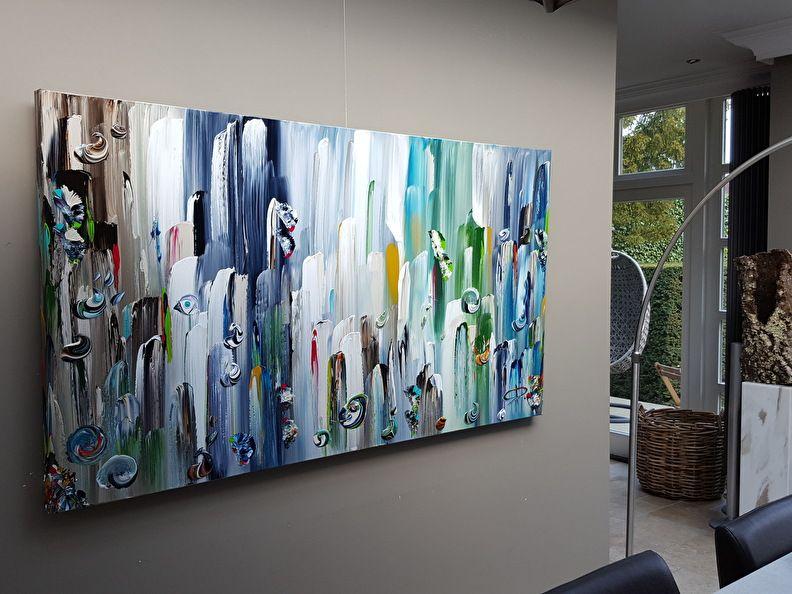 Pin Op Xl Abstracte Schilderijen Blauw Tinten Xl Abstrakte Acrylbilder Blau Tone