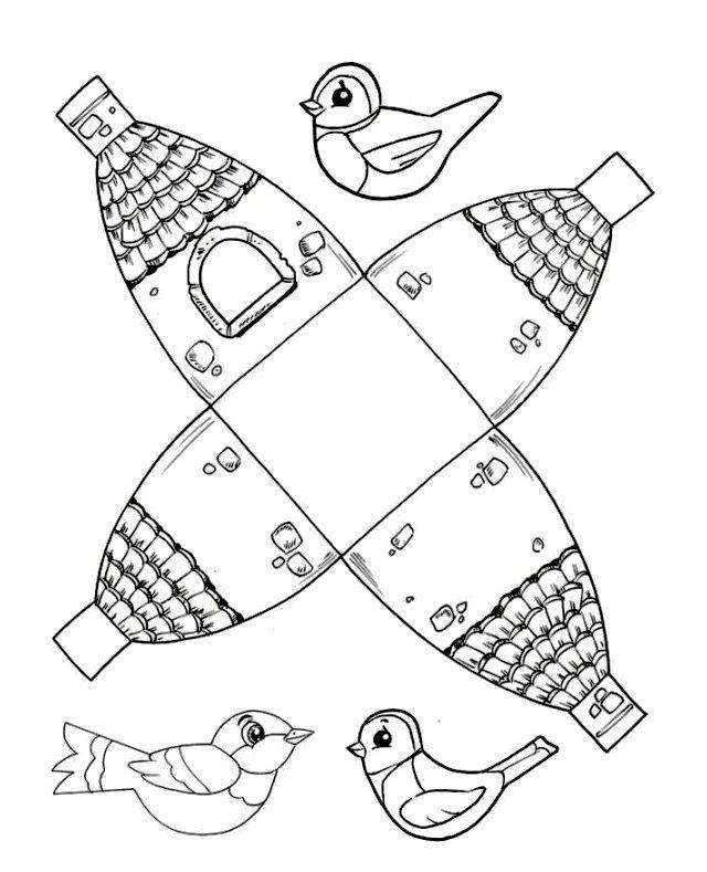 Cute Printable Birdhouse Template Birdhouse Craft Bird