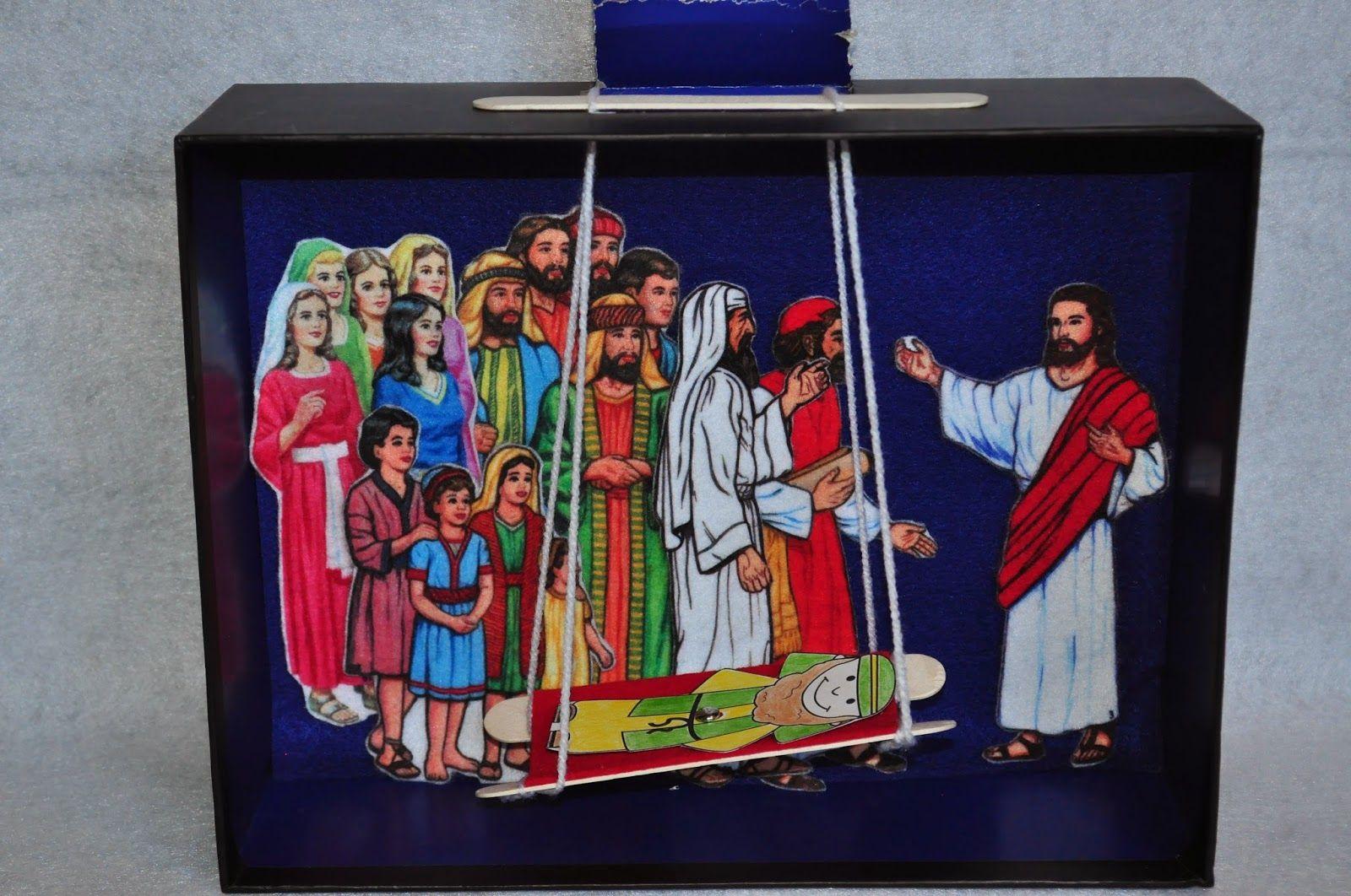 Faith sprouts jesus heals a paralyzed man bible crafts for Jesus heals paralyzed man craft