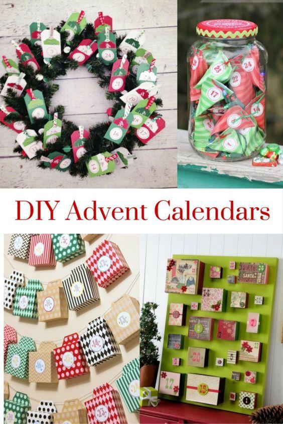 DIY Advent Calendars Advent calendars and Advent activities