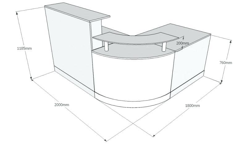 Reception Desk Dimensions Pin By On Standards Reception Regarding