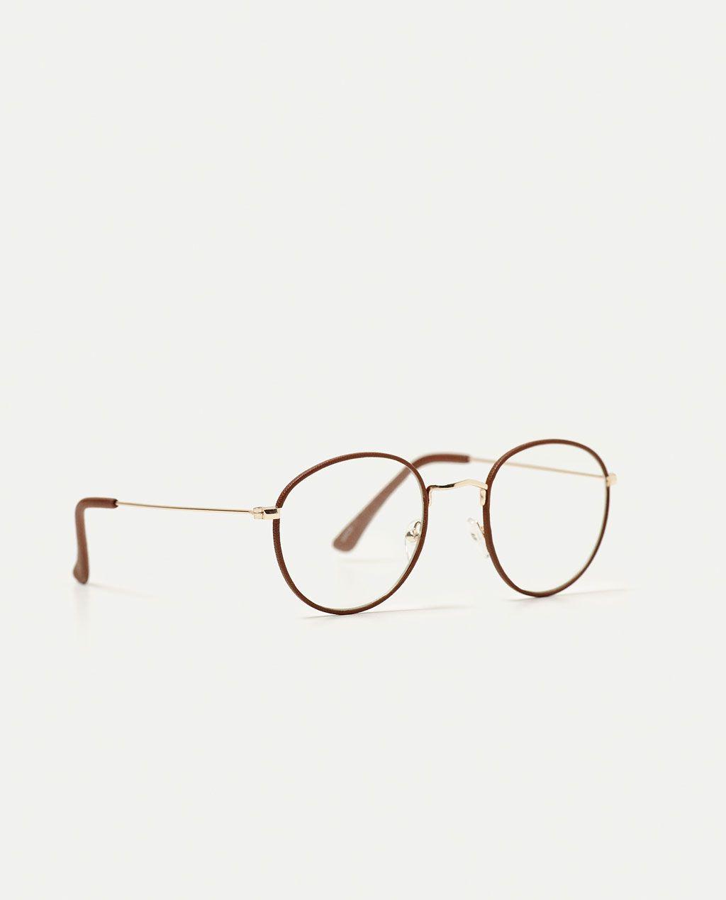 70166a37dc Imaxe 1 de LENTES VISTA REDONDAS de Zara | Fashion | Gafas redondas ...