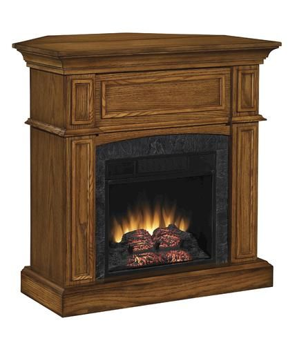 Thompson Electric Fireplace Set With Corner Extension At