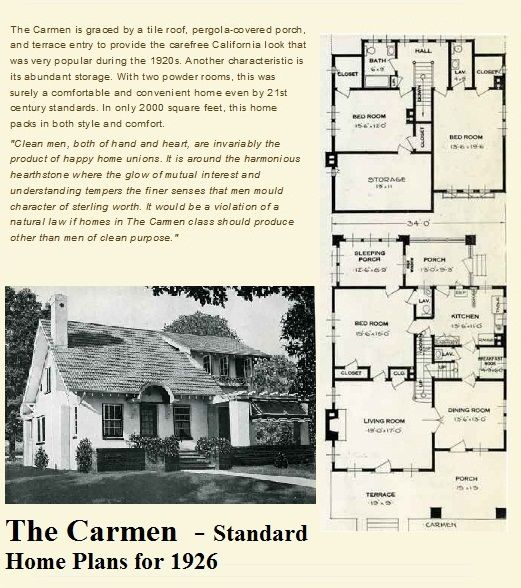 thanks to rachel shoemaker i recently discovered this little plan book house the carmen - Rachel Home Plans