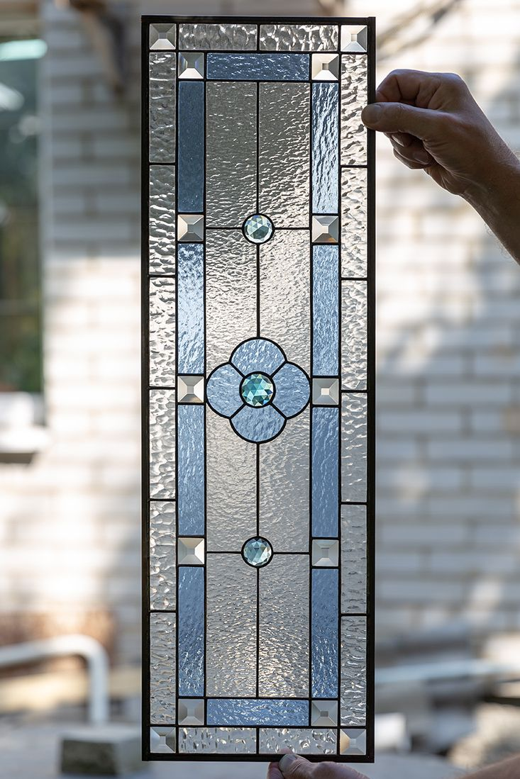 Stained Glass Window Panel New House Gift Modern Stained Glass Window Hangings Kitchen Cabinets Decor In 2020 Stain Glass Window Art Stained Glass Window Hanging Stained Glass Door
