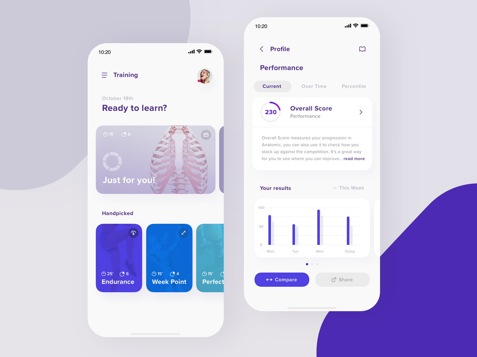 Anatomic Training Performance Uiapp App Ui Design Ui