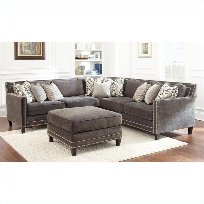 steve silver company torrey sofa with ottoman in charcoal grey rh pinterest com