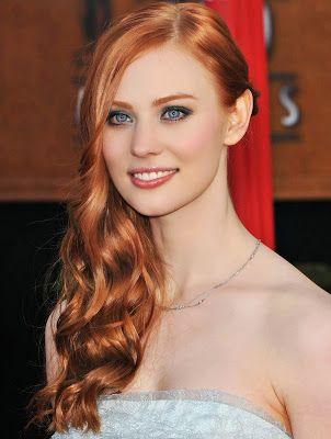 red hair blue eyes eye &