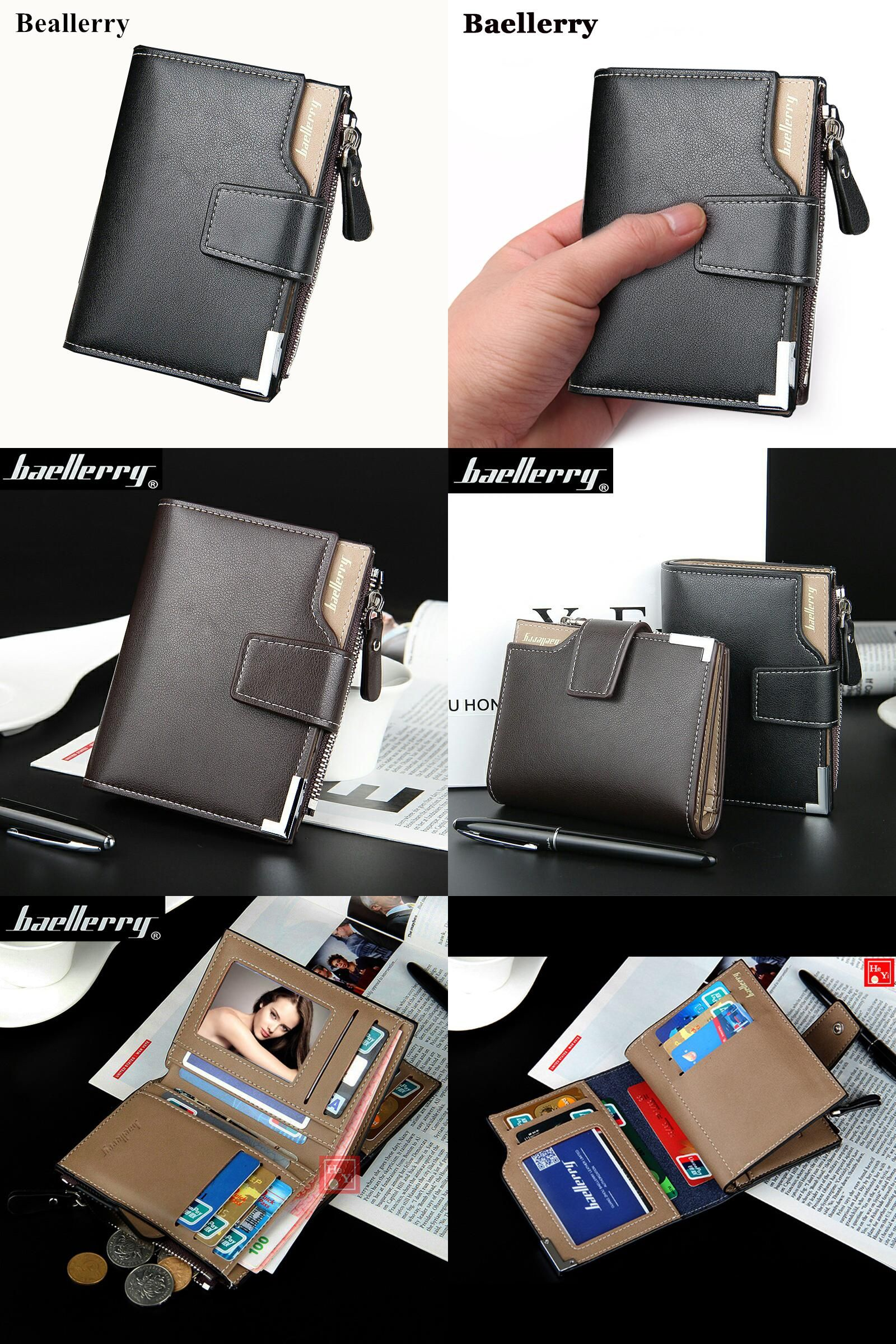 47286a34a7ce [Visit to Buy] Wallet men leather men wallets purse short male clutch  leather wallet mens Baellerry brand money bag quality guarantee  #Advertisement