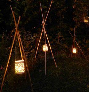 Des Lumieres Dans Le Jardin Landscape Lighting Backyard Lighting Wedding Deco