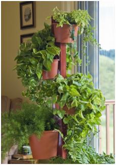 Who Gardens On My Garden Post Flower Pot Tower Vertical Herb Garden Flower Pot Garden