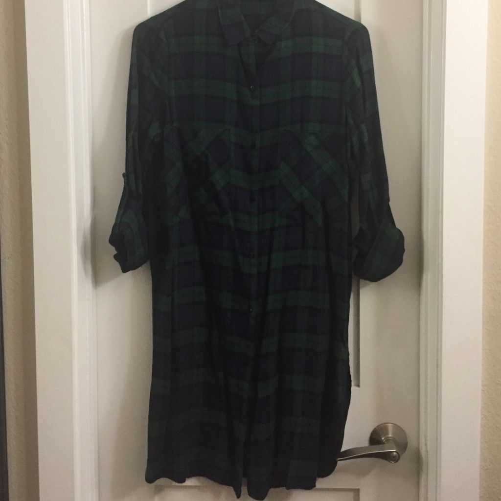 Flannel dress for women  Zara Flannel Shirt Dress  Products