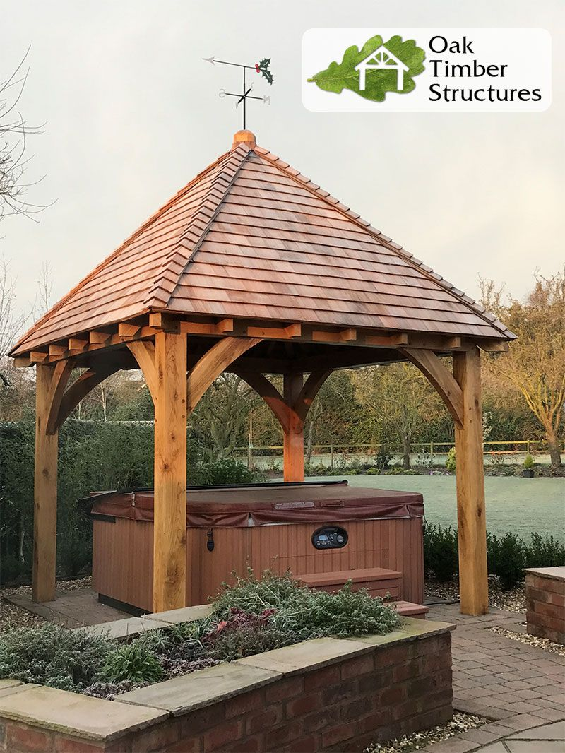 Best Oak Gazebo With Cedar Shingle Roof Oak Gazebo Gazebo 640 x 480