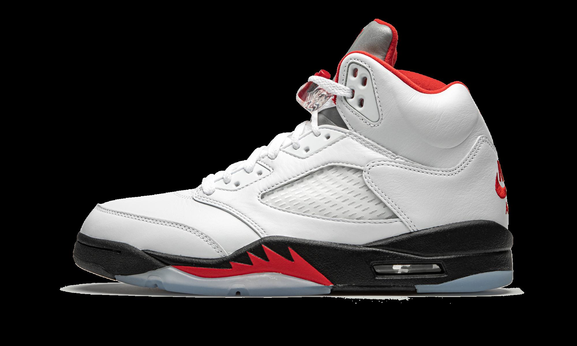 """Air Jordan 5 Retro """"Fire Red Silver Tongue 2020"""" DA1911"""