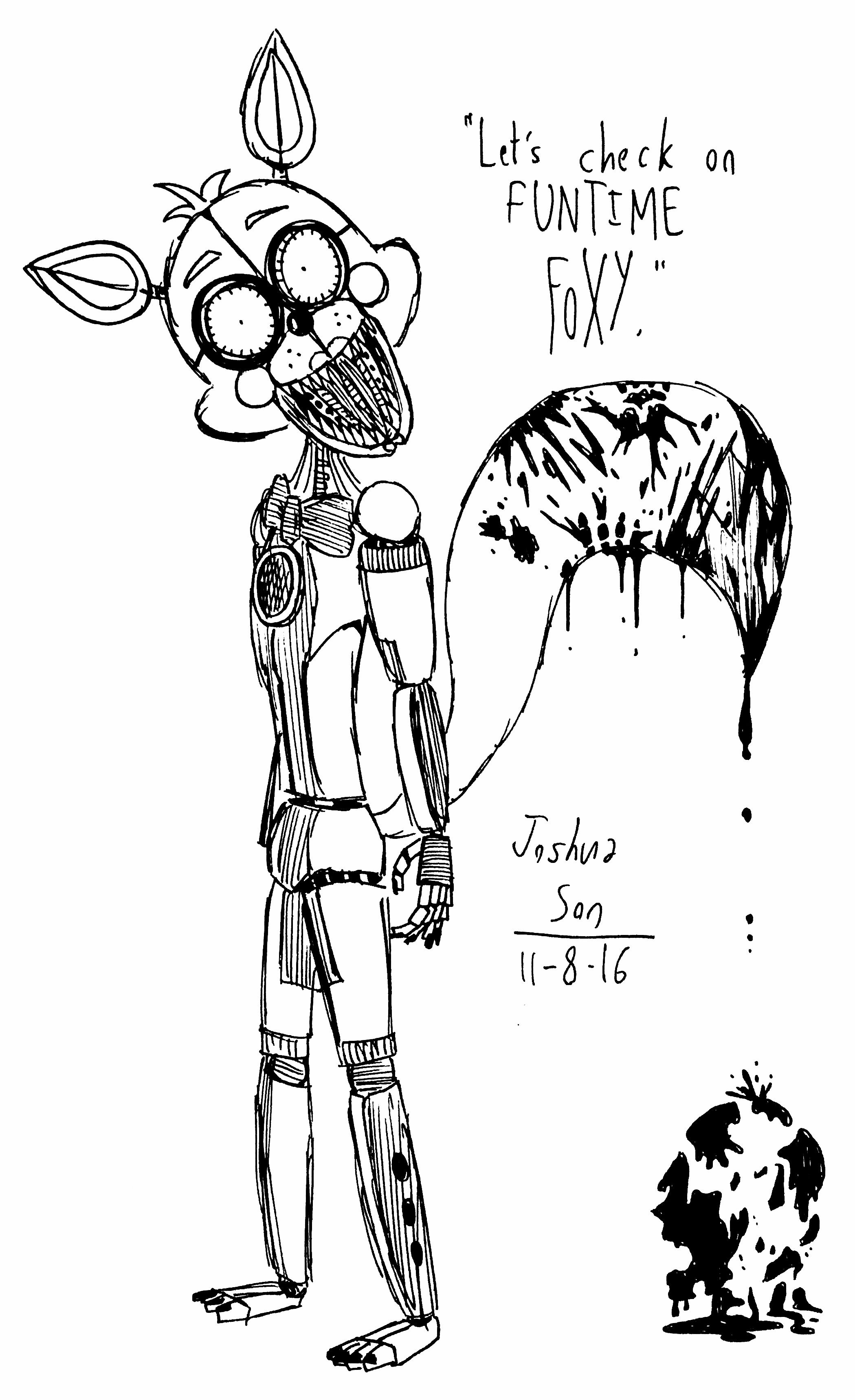 Sister Location Funtime Foxy By Josh S26 On Deviantart Sister Location Funtime Foxy Fnaf Coloring Pages
