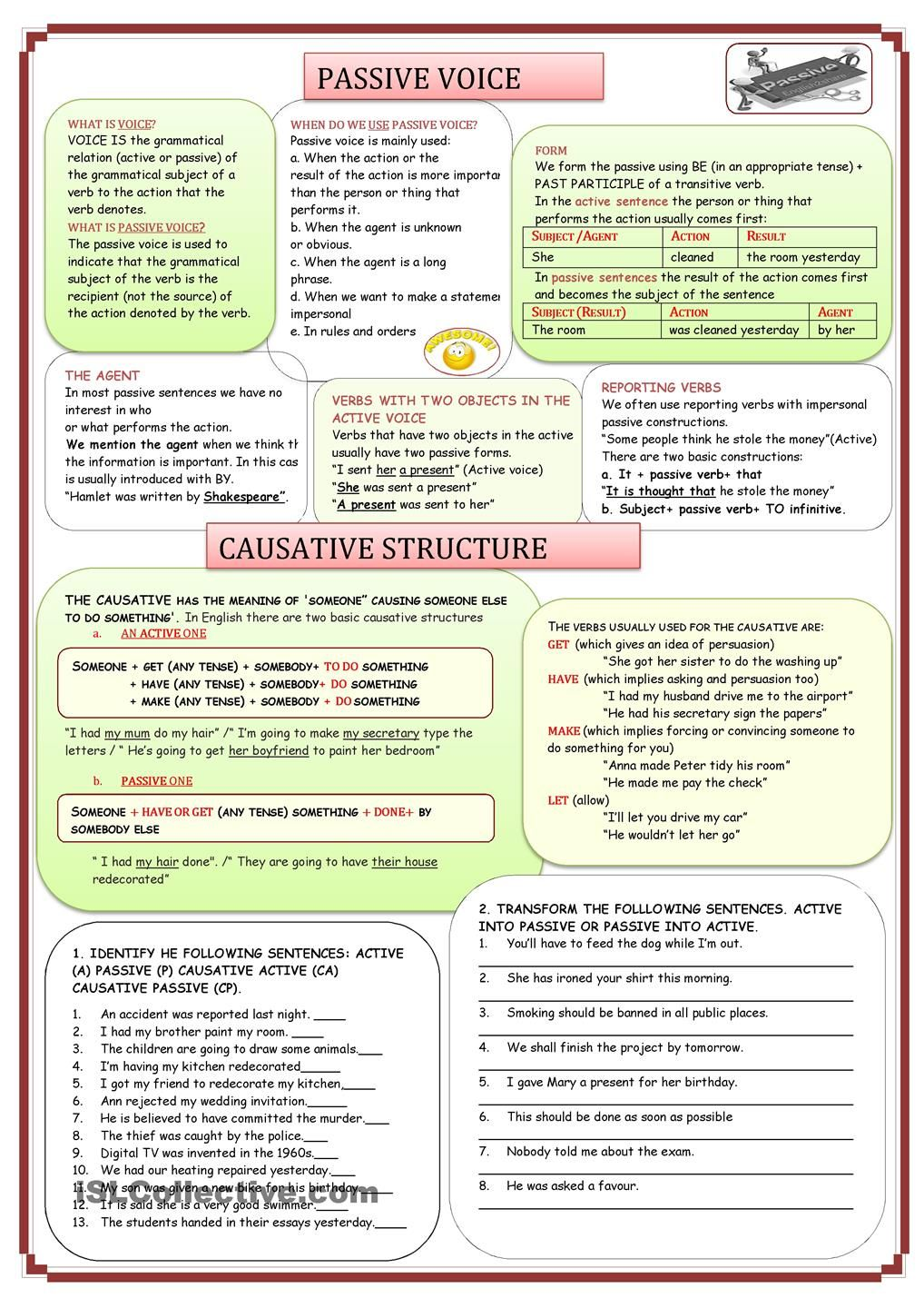 PASSIVE VOICE AND CAUSATIVE STRUCTURE | Applied Linguistics ...